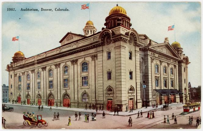 Auditorium Denver Colorado Postcard