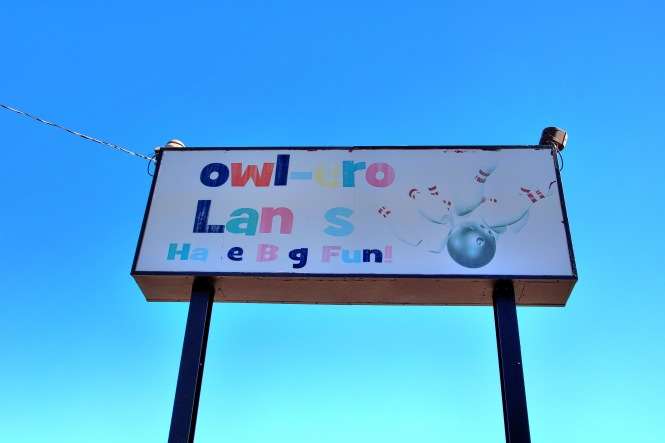 Bowl-ero Lanes Bowling Alley Sign Denver Colorado