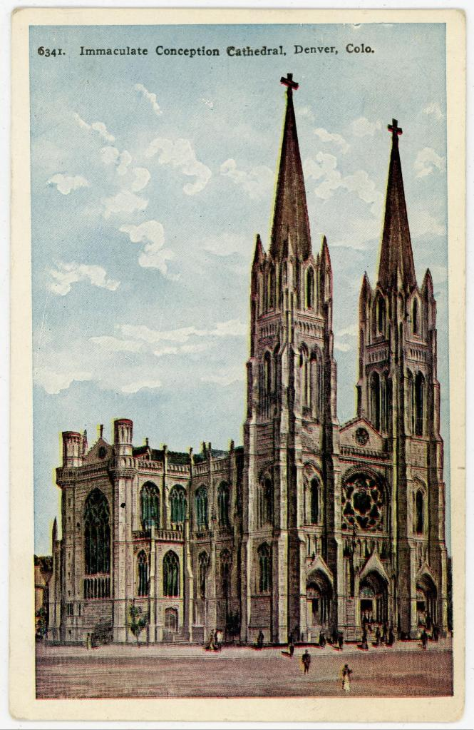 Postcard: Immaculate Conception Cathedral Denver, Colorado