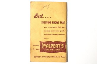 Advertising from Joe Alpert's Clothiers