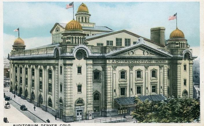 Postcard: Auditorium Denver Colorado