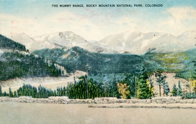 Postcard The Mummy Range, Rocky Mountain National Park Colorado