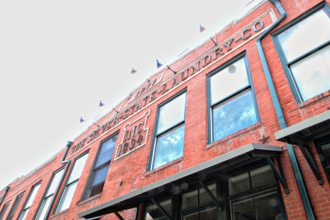The Silver State Laundry Company Inc sign in Downtown Denver
